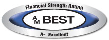 AM Best - Financial Strength Rating badge